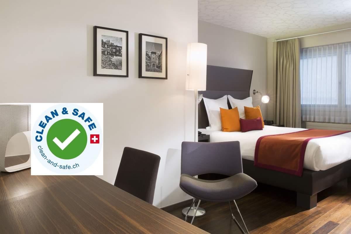 Vue de la ville deBâleHôtel D Bâle· Suisse· Hôtel Design 4 étoiles